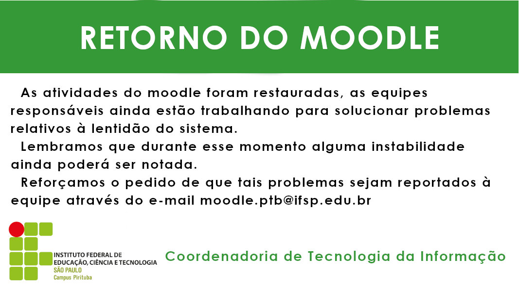 Retorno do Moodle