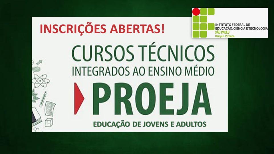 PROEJA - EDUCAÇÃO DE JOVENS E ADULTOS - ENSINO MÉDIO INTEGRADO AO TÉCNICO EM ADMINISTRAÇÃO