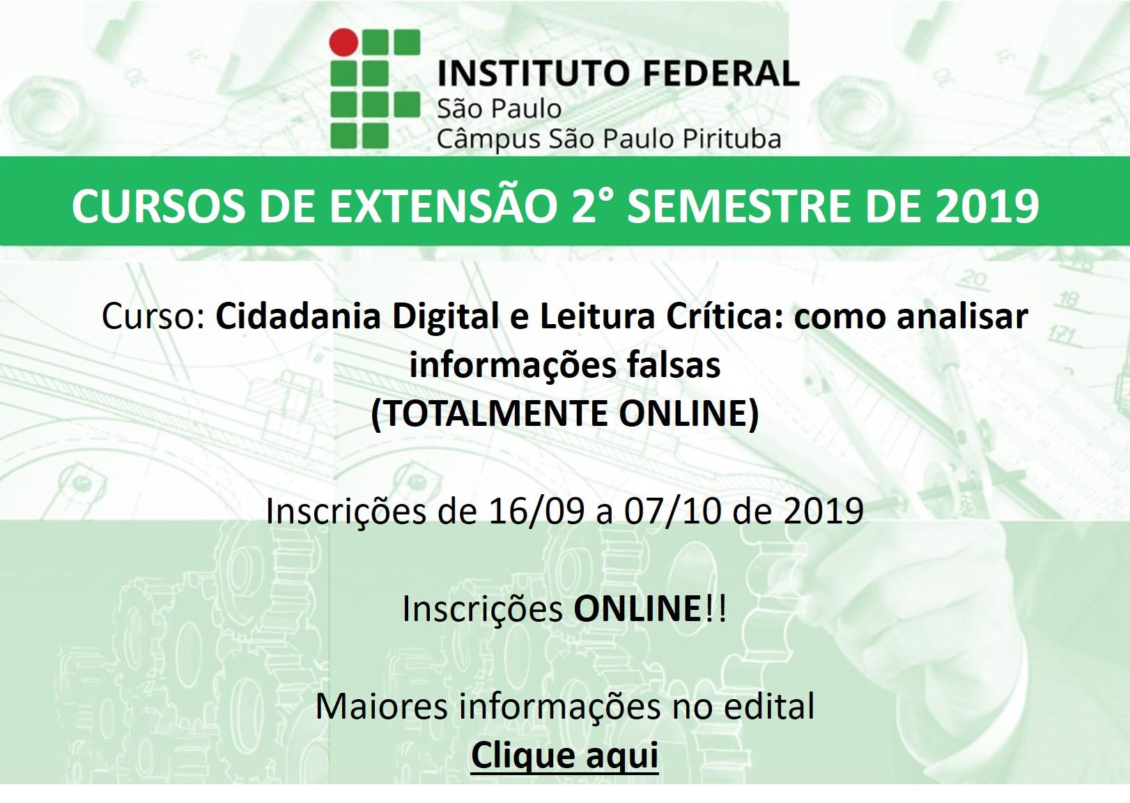 Curso Cidadania Digital: Inscrições abertas