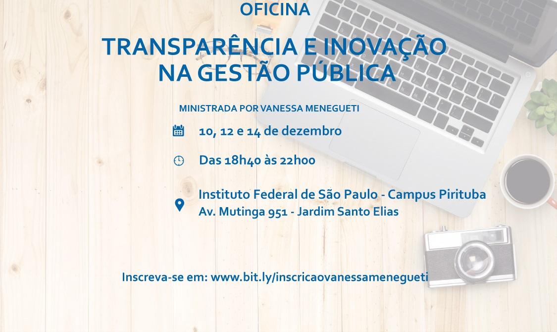 OFICINA DE TRANSPARÊNCIA E INOVAÇÃO NO SETOR PUBLICO